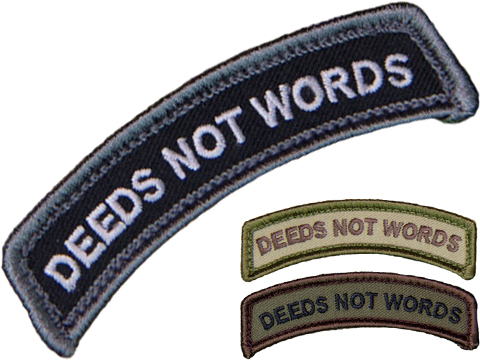 Mil-Spec Monkey Deeds Not Words Morale Patch