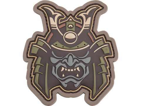 Mil-Spec Monkey Samurai Head 1 PVC Morale Patch (Color: Multicam)