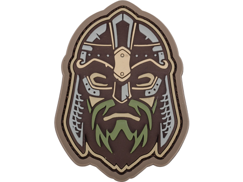 Mil-Spec Monkey Viking Warrior Head 2 PVC Morale Patch (Color: Multicam)