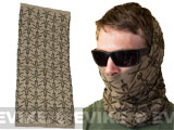 Mil-Spec Monkey Multi Wrap Neck Gaiter (Design: Spartan Logo / Dusty Brown)