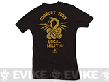Black Rifle Division Support your local militia T-shirt - Black (Size: Medium)