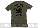 Black Rifle Division Support your local militia T-shirt - Military Green (Size: Medium)
