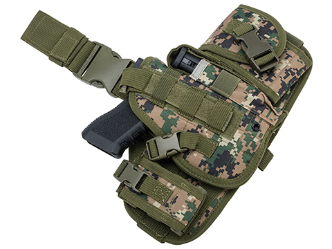 Matrix Drop Leg MOLLE Platform w/ Holster and Pouch Set (Color: Digital Woodland)