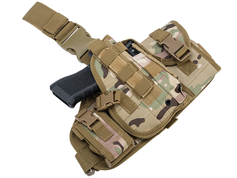 Matrix Drop Leg MOLLE Platform w/ Holster and Pouch Set (Color: Camo)