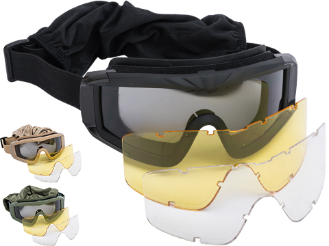 Matrix Tactical Systems Ultimate Protective Airsoft Goggles (Color: Black)
