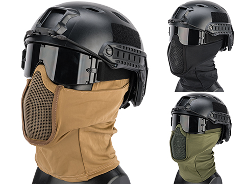Matrix Shadow Fighter Headgear w/ Mesh Mouth Protector
