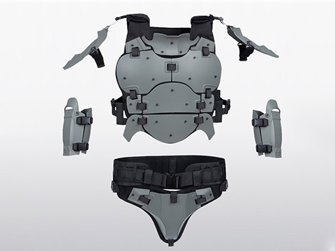 Matrix Full-Coverage Body Armor Suit (Color: Grey)