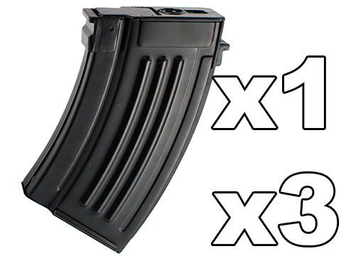 Matrix Short Type Full Metal 280rd Hi-Cap Magazine for AK series Airsoft AEG