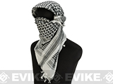 Matrix Woven Coalition Desert Shemagh / Scarves (Color: Black / White)