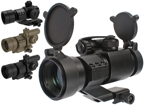 Matrix Military Type 1x30 Red & Green Dot Sight w/ QD Cantilever Mount (Model: High Mount / Black)