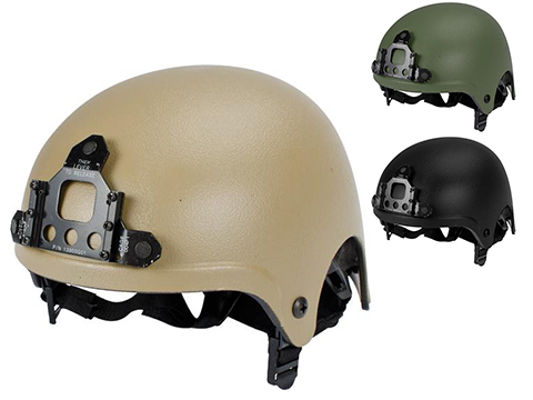 Light Weight IBH Airsoft Helmet w/ NVG Mount by Marix / Lancer (Color: Tan)