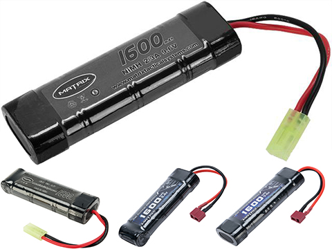 Matrix High Output Small Type Airsoft NiMH Battery (Configuration: 9.6V / 1600mAh / Small Tamiya)