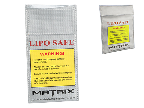 Matrix LIPO SAFE Lipoly Battery Charging Container Bag (Size: 100 x 200 mm)