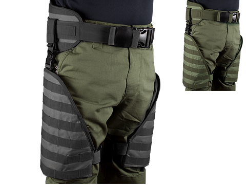 Matrix Tactical Systems MOLLE Lumbar Belt & Leg Protection System w/ Thigh Rig (Color: Black)