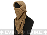 Military Grade 100% Cotton Sniper Veil Head Wrap / Scarf - Desert