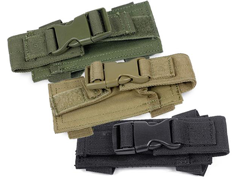 Horizontal MOLLE / Belt Mounted Pistol Magazine Pouch (Color: Black)