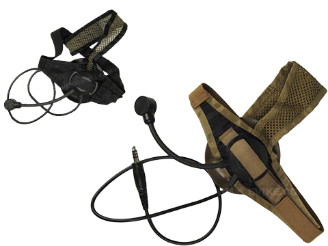 Matrix / Element Military Style Tactical Communications Headset Type D (Color: Desert Tan)