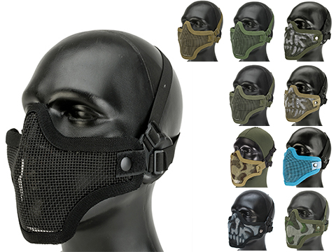 Matrix Iron Face Carbon Steel Mesh Striker V1 Lower Half Mask
