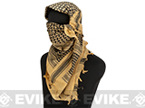 Matrix Woven Coalition Desert Shemagh / Scarves (Color: Tan / Black)