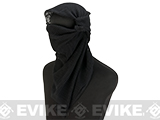 Military Grade 100% Cotton Sniper Veil Head Wrap / Scarf - Black