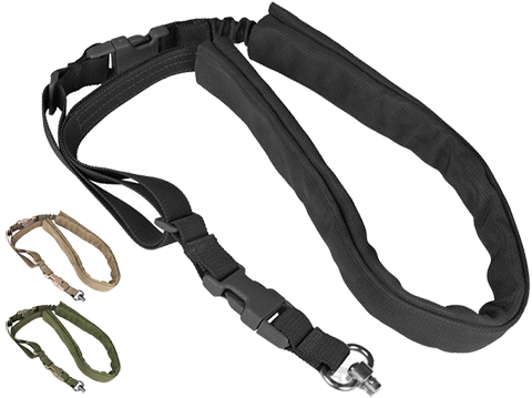 Matrix High Speed Single-Point Bungee Sling w/ QD Swivel (Color: Black)