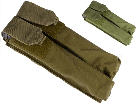 Dual Magazine Pouch for Airsoft P90 (Color: Tan)