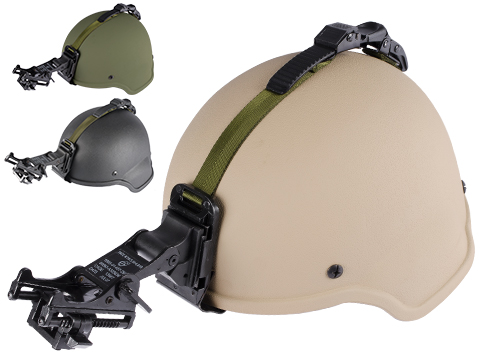 Matrix MICH 2000 Fiberglass Airsoft Helmet w/ NVG Mount & Mount Base (Color: OD Green)