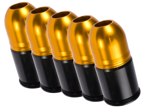 Matrix Eagle Force High Power Multi-Purpose CNC 40mm Airsoft Grenade Shell (Qty: 6 Pack)
