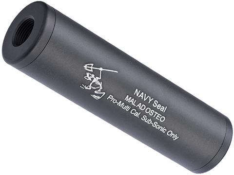 Matrix Airsoft Mock Suppressor / Barrel Extension - 30 X 110mm (Style: Navy Frog / Black)
