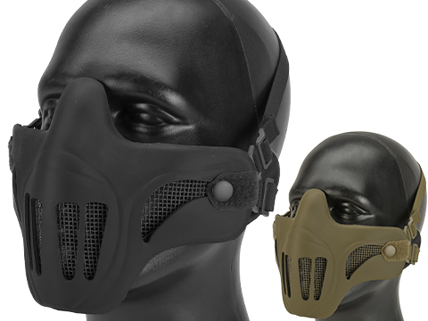 Matrix Metal Mesh Lower Half Mask w/ Soft Polymer Covering (Color: Black)