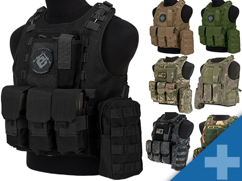 Avengers Military Style MOD-II Quick Release Body Armor Vest (Color: Black)