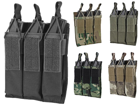 Matrix Airsoft SMG Triple Magazine MOLLE Pouch (Color: Black)