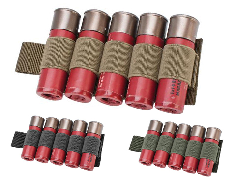 Matrix 5rd Shotgun Shell Holder w/ Hook Backing (Color: Black)