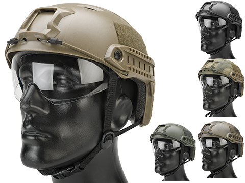 Matrix Basic Base Jump Type Tactical Airsoft Bump Helmet w/ Flip-down Visor