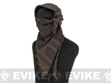 Matrix Woven Coalition Desert Shemagh / Scarves - (Dark Chocolate / Black)