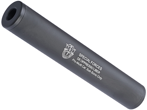 Matrix Airsoft Mock Suppressor / Barrel Extension - 30 X 180mm (Style: Special Forces / Black)