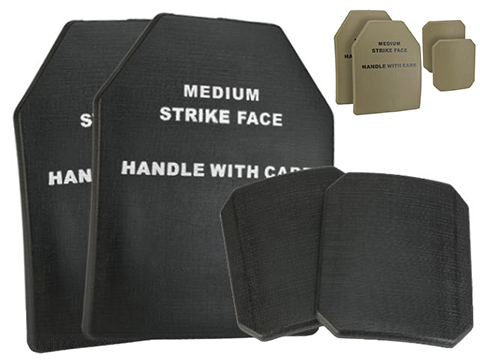 Matrix TMC 4 pcs Replica SAPI Dummy Ballistic Plate Set w/ Front, Back, & Sides (Color: Black)
