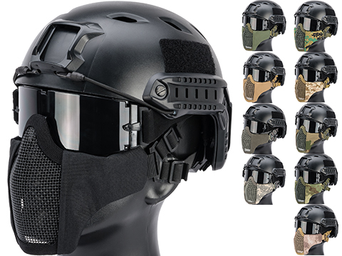 Matrix Low Profile Iron Face Padded Lower Half Face Mask