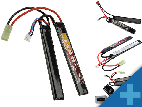 Matrix High Performance 7.4V Butterfly Type Airsoft LiPo Battery (Configuration: 1450mAh / 20C / Small Tamiya / Large)