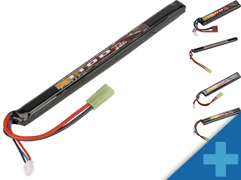Matrix High Performance 7.4V Stick Type Airsoft LiPo Battery (Configuration: 1100mAh / 25C / Small Tamiya)