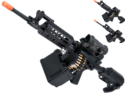 Matrix Golden Eagle AR LMG Airsoft AEG Light Machine Gun (Length: 18.75 / Black)