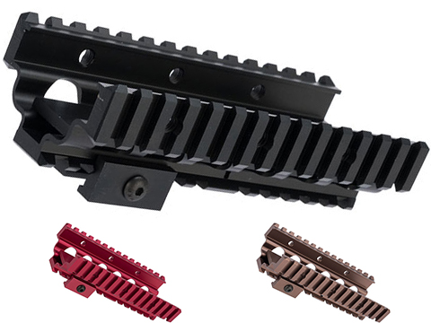 Matrix Aluminum CNC RIS Lower Handguard for M249 Series Airsoft AEG Machine Guns (Color: Black)
