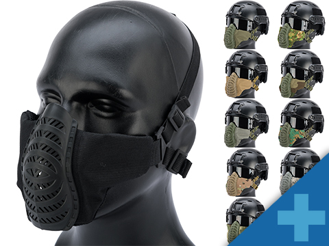 Matrix Low Profile Tactical Padded Lower Half Face Mask (Color: Black)