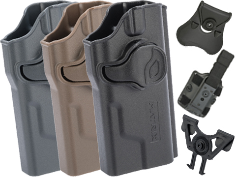 EMG Helios Matrix Hardshell Adjustable Holster for Hudson H9 Series Pistols (Type: Black / No Attachment)