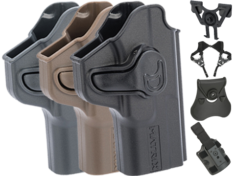 EMG Helios Matrix Hardshell Adjustable Holster for SAI BLU Series Pistols (Type: Black / No Attachment)