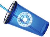 Guns & Coffee 16 Oz. Double Walled Acrylic Personal Tumbler Cup with Acrylic Straw