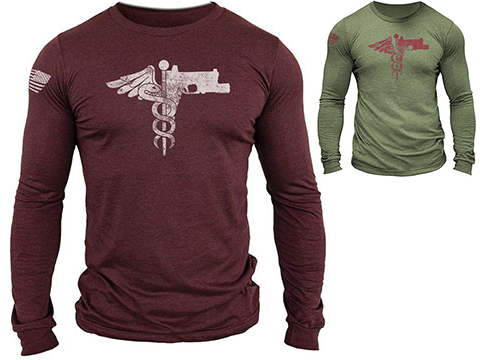 MUSA Trauma Medical Shooter Long Sleeve Shirt (Color: Cardinal Heather / Medium)