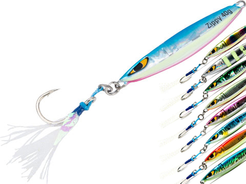 Mustad Zippy Jig Long Distance Casting Fishing Lure (Color: Blue Red Chrome / 40g)