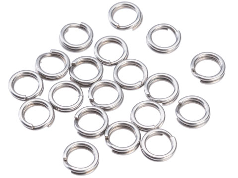 Mustad Saltwater Game Special Saltism Forged SS Split Rings (Size: 5 / 20pcs)