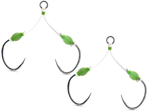 Mustad Saltwater Fishing Slow Pitch Double Jigging Assist Rig w/ Ring